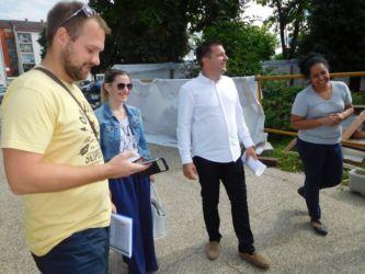 Gradonačelnik Dario Hrebak obišao radove na vrtiću u Stepinčevoj ulici u Bjelovaru, 28. srpnja 2017. FOTO: Kristina Turković Lovrić www.bjelovar.hr